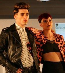 Male and female punkette models