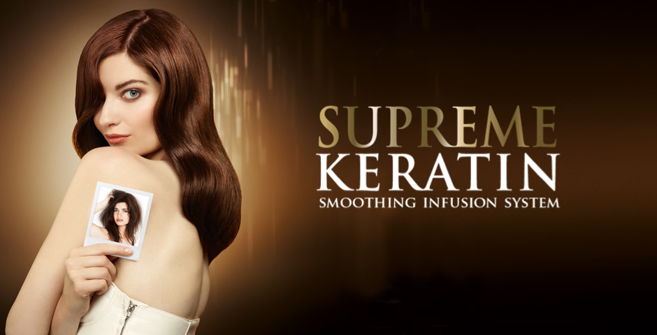 SUPREME KERATIN for smooth shiny hair