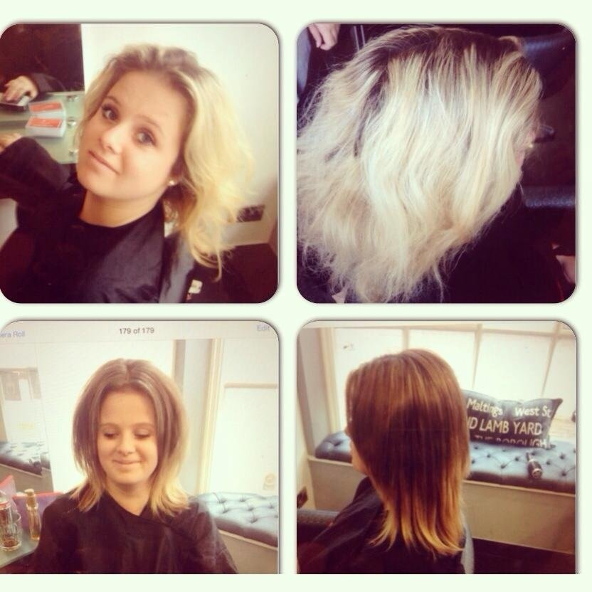 colour correction by Beth, Before & After Photos at Top Hair Salon in Farnham, Surrey