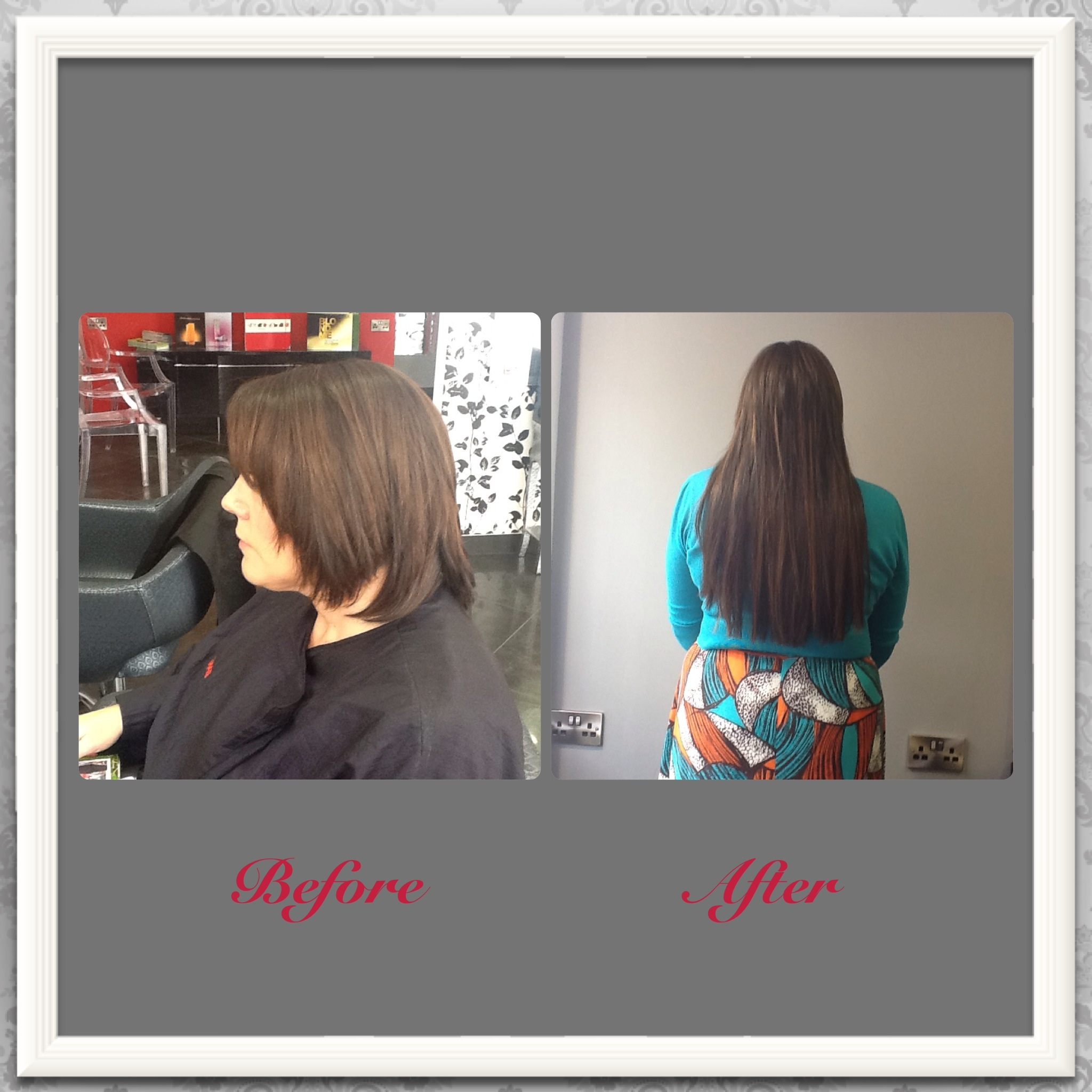 hair extensions by collette, Before & After Photos at Top Hair Salon in Farnham, Surrey