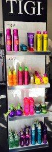 Tigi products at Ruby Mane