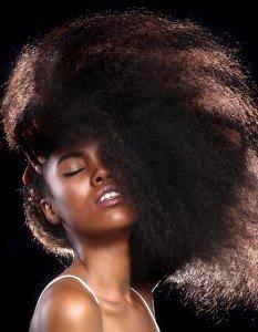 Detangling curly hair, Farnham hair salon