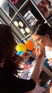 glitter painting, ruby mane hair boutique, farnham fun day