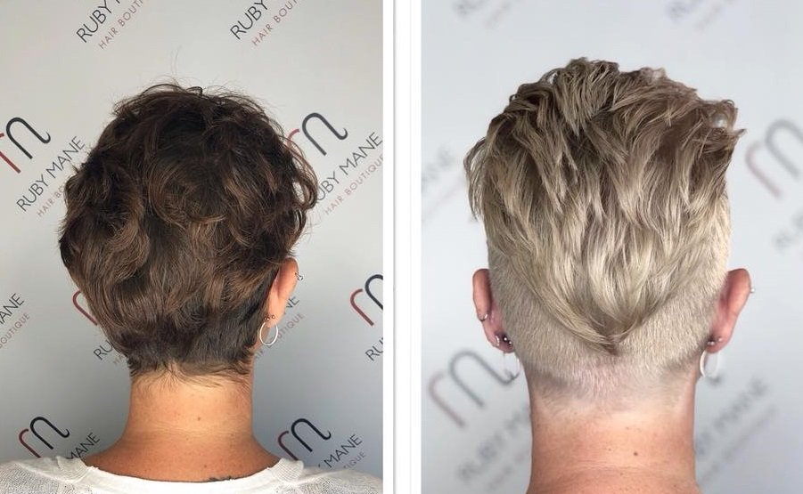 ruby mane hair salon hair colour transformation in farnham, surrey