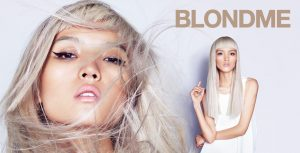 Platinum silver blonde hair colour at Ruby Mane Hairdressing Salon in Farnham