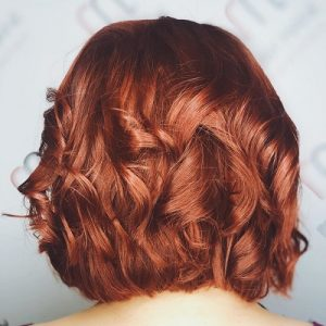 full head red colour best hairdressers in Surrey